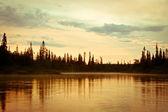 Twilight on the River — Stock Photo
