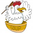Chicken Soup — Stock Vector