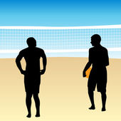 Volleyball Players — Stock Vector