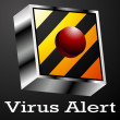 Stock Vector: Virus Alert Button