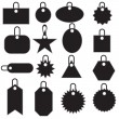 Stock Vector: Multiple Tag Icons - black