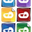 Royalty-Free Stock Vector Image: 3D Sticker Set - Tape Dispenser
