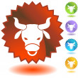 Stock Vector: Label - Taurus