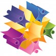 Royalty-Free Stock Imagem Vetorial: Teamwork Starburst 3D