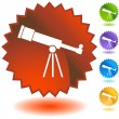 Stock Vector: Telescope