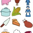 Stock vektor: Thanksgiving Icons