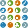Stock Vector: Eco Friendly Buttons