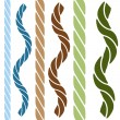 Royalty-Free Stock Vector Image: Wavy Straight Rope Set
