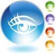 Royalty-Free Stock Vector: Human eye Crystal Icon Set