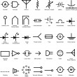 Electrical Symbol Icon Set - Image vectorielle