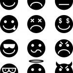 Emoticon Icon Set — Stock Vector