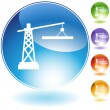 Construction Crane Icon - Stock Vector