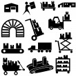 Manufacturing Icon Set — Stock Vector