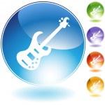 Bass Guitar Instrument — Stock Vector
