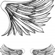 Royalty-Free Stock Vector Image: Hand Drawn Wings