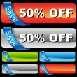 Discount Ribbon Bar Set - Stock Vector