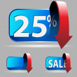 Twenty Five Percent — Stock Vector