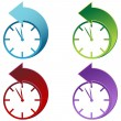 Stock Vector: Daylight Savings Time Clock