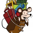 Vector de stock : Pack Rat