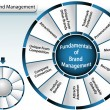 Brand Management Wheel - Image vectorielle