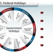 US Federal Government Holidays — Stock Vector