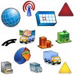 Traffic Icon Set — Stock Vector