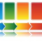 Heat Map Arrow Chart — Stock Vector