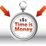 Время - деньги — Cтоковый вектор