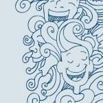 lachende gezichten — Stockvector