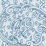kalp doodle — Stok Vektör