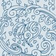doodle coeur — Vecteur
