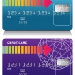 Credit Card Set — Stock Vector