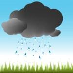 Cloudburst Weather — Stock Vector
