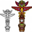 Totem Pole - Stock Vector