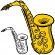 Stock Vector: Saxophone