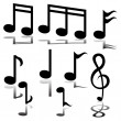 Musical Note - Imagen vectorial
