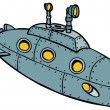 Stock Vector: Submarine