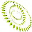 Energy Leaf Circle — Stock Vector