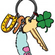 Stock Vector: Lucky Keychain