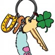 Lucky Keychain - Stock Vector
