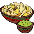 Nachos Tortilla Chips - Stock Vector