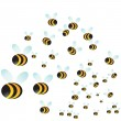 Bee Swarm — Stock Vector #3984505