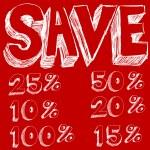 Discount Savings Text — Stock Vector