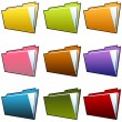 Stock Vector: Folder Set