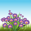 Stock Vector: Purple Daisies