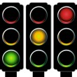 Traffic Light Set - Stock Vector