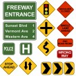 Stock Vector: Road Signposts