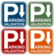 Stock Vector: Parking Validation Sign