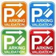 Parking Validation Ticket Sign — Stock Vector