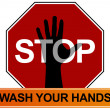 Vector de stock : Hand Washing Sign